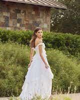 Classic Open Back Ruffle Style Wedding Dress - Editorial Back